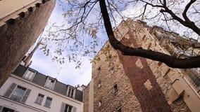 Street of Paris. Autumn. stock video footage