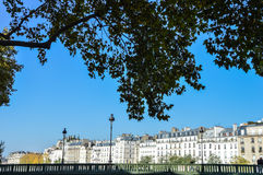 Street of Paris with buildings summertime Stock Image