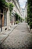 Street of Paris. With cobbles Stock Photos