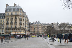 Street in Paris. Royalty Free Stock Photo