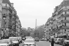 Street in Paris. Royalty Free Stock Photos