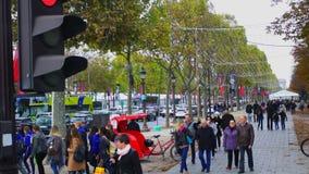 Street of Paris stock video footage