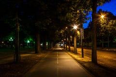 Street of Paris. At night Stock Images