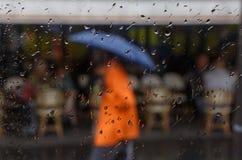 Street of Paris at rain Royalty Free Stock Images