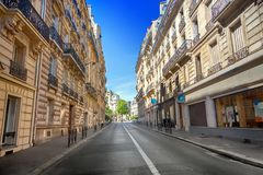 Street in Paris. Street view in Paris, France stock photography