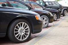 Street parked cars Royalty Free Stock Images