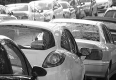 On street parking Royalty Free Stock Photography