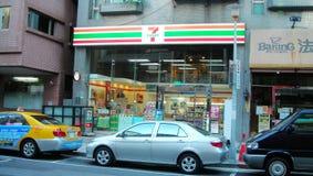 Street parking in Taipei Taiwan Royalty Free Stock Photos
