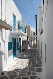 Street in Paros Royalty Free Stock Photos