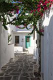 Street in Paros island, Cyclades, Greece Stock Images