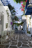 Street in Paros island, Cyclades, Greece Royalty Free Stock Image