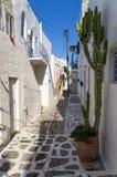 Street in Paros island, Cyclades, Greece Stock Photo
