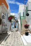 Street of Paros Stock Photos