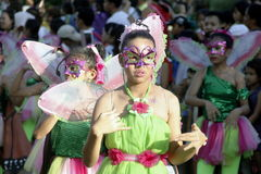 Street Party. Cavite, Philiippines: Street dancing competition in Paru-paro Festival in Dasmarinas Cavite, Philippines on November 26, 2015 royalty free stock photography