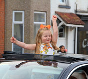 Street party girl Royalty Free Stock Photography