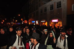 Street party at Zombie Crawl and Parade 2015, Toronto, Canada Royalty Free Stock Image