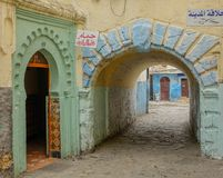 Street and passageway in the Medina royalty free stock photo