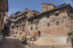 The street of Patan Royalty Free Stock Photos