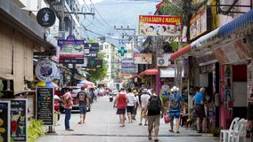 Streets of Patong royalty free stock images