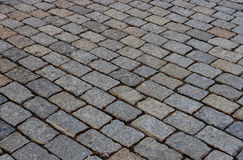 Street paved with cobblestone. In Moscow, Russia Stock Images
