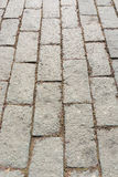 Street paved with cobblestone Royalty Free Stock Photography