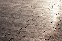A street pavement and reflected sunlight Royalty Free Stock Photography