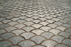 Street paving. Paving of street with interestingly shaped tiles Royalty Free Stock Image