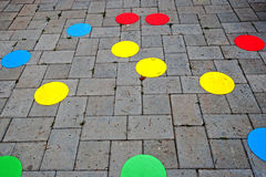 Street paving cheerful and colored stock photos