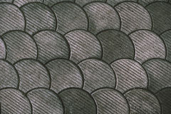 Street paving, fish scale pattern Stock Photos