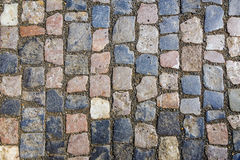Street paving, natural stone paving Royalty Free Stock Images