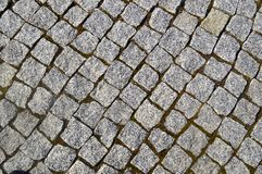 Street paving rough and textured royalty free stock image