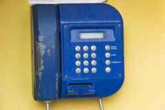 Street payphone closeup Royalty Free Stock Image