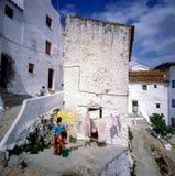 Street in Village Casares, Spain. Street with people  in village Casares, Spain Stock Photos
