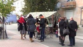 Street people walking stock video footage