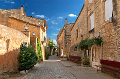 Street in Peratallada, Spain Royalty Free Stock Photos