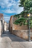 Street in Peratallada, Spain Royalty Free Stock Images