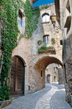 Street in Peratallada, Spain Stock Photos