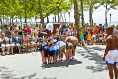Street performance in Battery Park Stock Photography