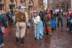 Street Performance, Bremen, Germany Stock Images