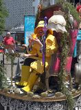 Street Performance on Cherry Creek Art Festival in Denver stock photo
