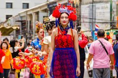 Street performance for Chinese Hungry Ghost festival (Por Tor) a Stock Photo