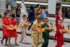 Street performance for Chinese Hungry Ghost festival (Por Tor) a Royalty Free Stock Photos