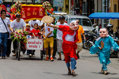 Street performance for Chinese Hungry Ghost festival (Por Tor) a Royalty Free Stock Photo