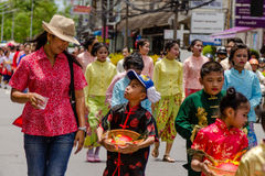 Street performance for Chinese Hungry Ghost festival (Por Tor) a Royalty Free Stock Images
