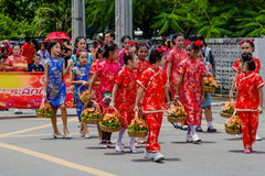 Street performance for Chinese Hungry Ghost festival (Por Tor) a Royalty Free Stock Photography