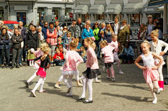 Street performance at Dance Day in Norway Royalty Free Stock Image