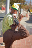 Street Performance near Mandela's house Royalty Free Stock Images