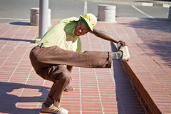Street Performance near Mandela�s house Royalty Free Stock Photography