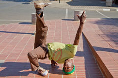Street Performance near Mandela�s house Royalty Free Stock Images