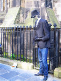 Street performance play invisible man  in edinburgh,scotland Royalty Free Stock Photos